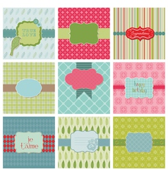 set of beautiful cards vector image