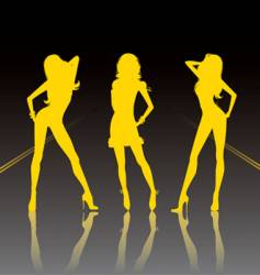sexy silhouettes vector image