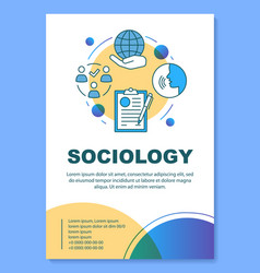 Sociology poster template layout public opinion vector