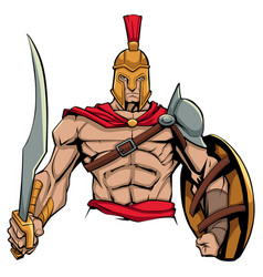 Spartan warrior mascot vector