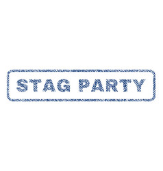 Stag party textile stamp vector