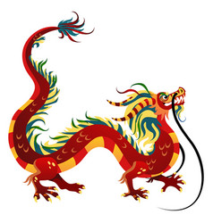 Traditional chinese dragon ancient symbol of vector