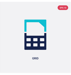 two color grid icon from creative pocess concept vector image