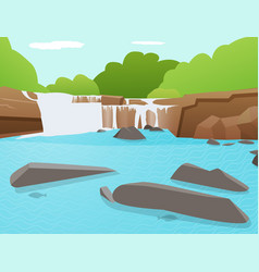 waterfall background tat ton thailand vector image