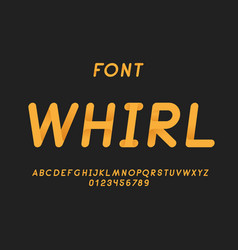 whirl italic font alphabet vector image