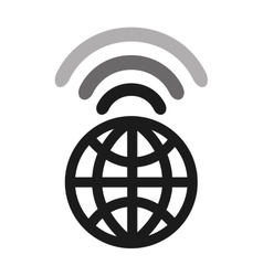 wifi waves signal icon vector image