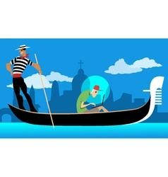 Working on vacation vector image