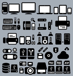 Computers and Peripherals vector image vector image