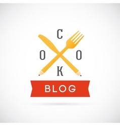 Cook Blog Concept Icon or Logo Template vector image vector image