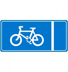 cycle lane vector image vector image