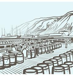 Fish factory vector image vector image