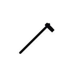 isolated hatchet icon tomahawk element can vector image