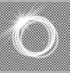 light ring with tracing effect vector image vector image