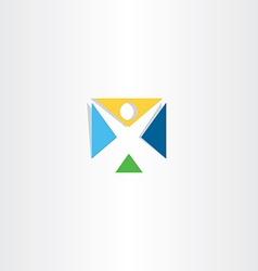 logo logotype letter x man icon vector image vector image