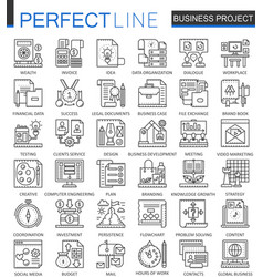 business project outline concept symbols strategy vector image