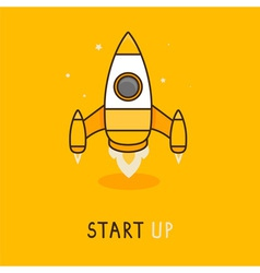 launch icon in flat style vector image vector image