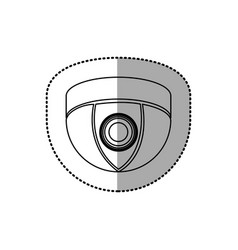 Silhouette video camera technology computer icon vector