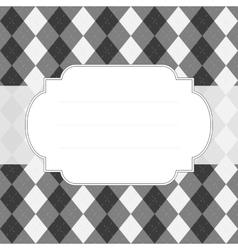 Classic style argyle background vector image
