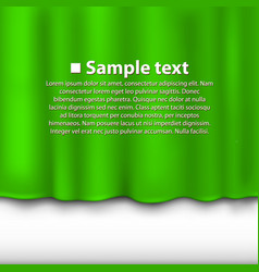 Curtain of green color vector