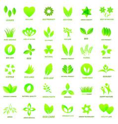 ecology icon set vector image