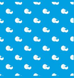 hazelnuts pattern seamless blue vector image vector image