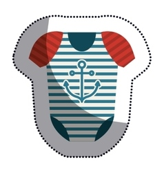 Isolated baby cloth design vector image