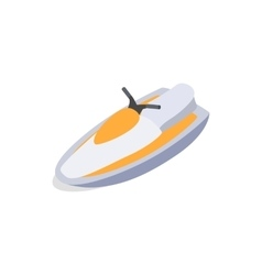 Jet ski icon isometric 3d style vector image