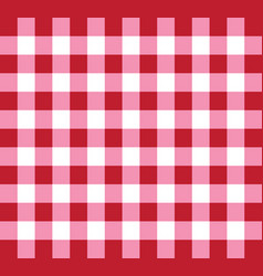 picnic checkered tablecloth pattern red and white vector image vector image