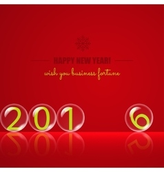 Transparent rolling glass balls on red background vector image vector image