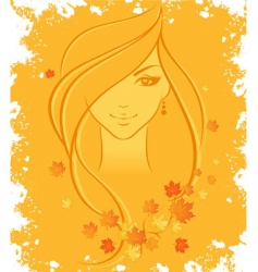 women autumn vector image vector image