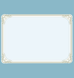 Blue green background and frame vector