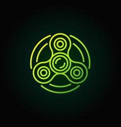 fidget spinner green icon vector image vector image