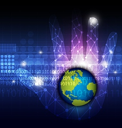 global technology in hand vector image