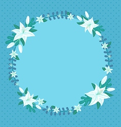 lily spring card vector image vector image