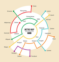 metro map imaginary underground map vector image
