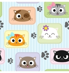 Pattern with cats vector