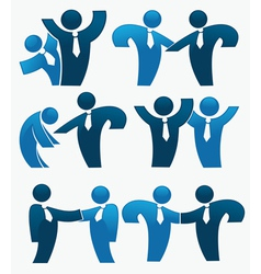 successful business people vector image vector image