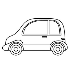 taxi automobile vehicle outline vector image