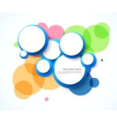 Abstract background with circles vector image
