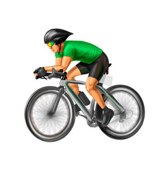 Abstract cyclist on a race track on white vector