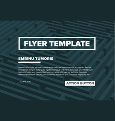 Abstract maze flyer template vector