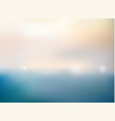 abstract of blurred nature sea background vector image