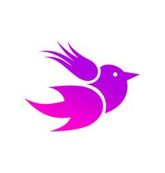 abstraction bird3 vector image