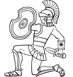 ancient soldier vector image