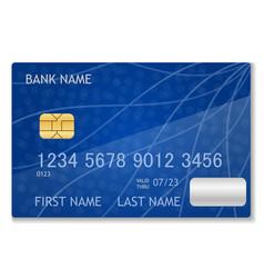 bank card stock vector image
