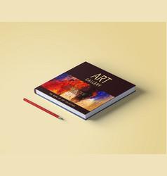 beautiful art book cover template design vector image