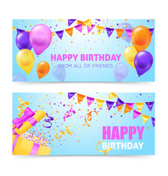 Birthday party banners vector