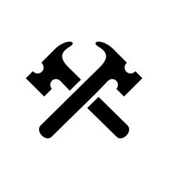 black hammer tool silhouet vector image