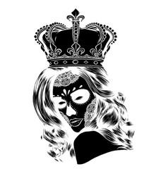Black silhouette queen death portrait vector