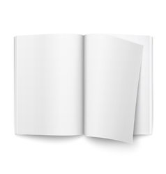 Blank open magazine template vector